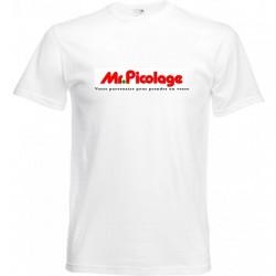 T-shirt blanc mr picolage -...