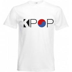 T-shirt blanc Kpop -...