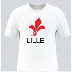 T-shirt blanc Lille -...