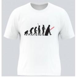 T-shirt blanc EVOLUTION -...