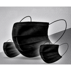 Masque noir à usage unique