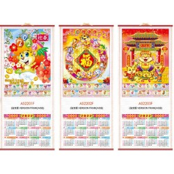Calendrier chinois mural...
