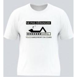T-shirt blanc polyester -...