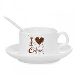 Tasse à café + soucoupe +...